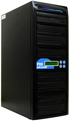 Produplicator 1 to 7 24X Burner CD DVD Duplicator - Standalone Copier Duplication Tower