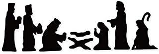 Molde de corte Pesebre Natividad Troqueles de corte de metal Scrapbooking Troqueles de trozos Cortes Papel fino Relieve Cuchillo Plantilla 110 * 78Mm