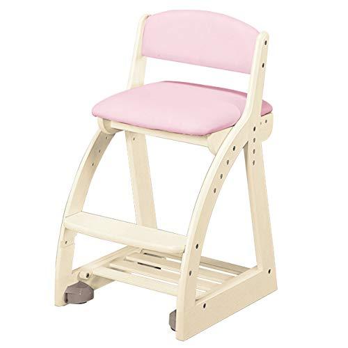 コイズミファニテックKOIZUMI(コイズミ学習机)学習椅子WW/ライトピンクW41.3×D49.5~54.5×H75㎝SH44・47・50・53cm(外寸)4ステップチェアライトピンク色FDC-051WWLP