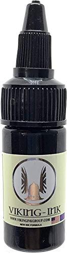 VIKING-INK Tinta para tatuaje. Extra Light Shadow 0.5oz (15ml.) SOMBRA SUMI GREYWASH BLACKANDGREY