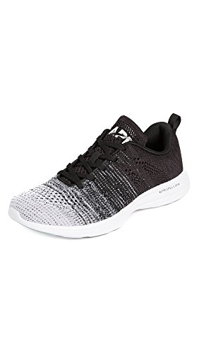 APL: Athletic Propulsion Labs Men's Techloom Pro Running Sneakers, White/Heather Grey/Black, 10 Medium US