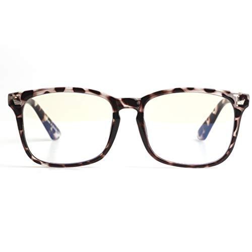 B&G London Blaulichtschutzbrille und Computerbrille, transparent, 100% UV-Schutz & Anti-Auge-Flecken für Männer und Frauen