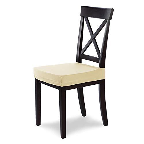 SCHEFFLER-Home Stretch Stuhlbezug Marie, elastische Stuhlauflage mit Fleckschutz, wasserabweisender Sitzbezug Esszimmerstuhl, Elegante Auflage für Stühle, Stuhlhussen Stretch