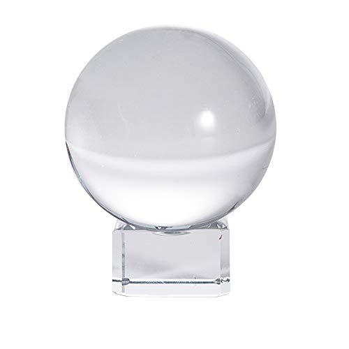 LONGWIN 50mm(2 inch) K9 Photography Crystal Glass Ball Sphere with Free Stand Suncatcher (Clear)