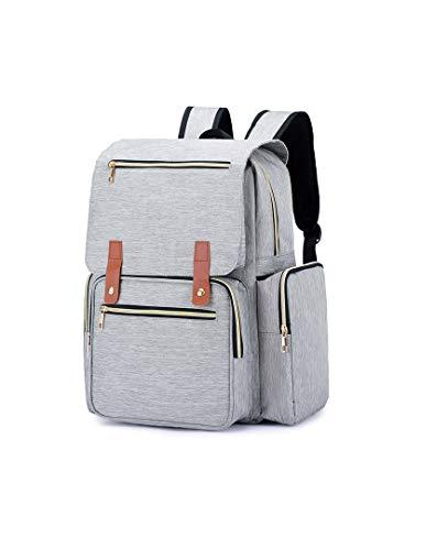 Diaper Bag Backpack Extra Grande Capacidade Multifuncional saco para Maternidade Fralda Business Travel Trip, Gray
