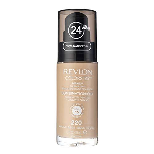 Revlon - Colorstay Peau Normale et Mixte - Fond de Teint Naturel Beige avec bouchon doseur