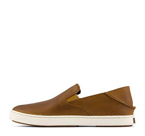 OLUKAI Women's Pehuea Leather Slip On Shoes, Fox/Fox, 8