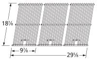 Music City Metals 5S743 Stainless Steel Wire Cooking Grid Replacement for Gas Grill Model Kitchen Aid 720-0745, Set of 3