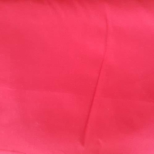 Pingianer Tissu 100 % coton uni uni pour enfant au mètre pour la couture, l'artisanat, Coton, rouge, 50x160cm (13,98€/m)