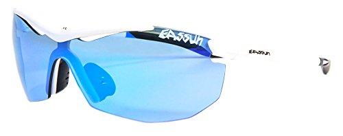 EASSUN La Piuma I Gafas De Sol, Unisex, Blanco/Azul, S
