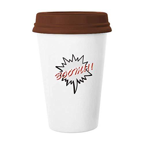 Caneca de cerâmica para xícara de café com emoção do chat da linguagem diária