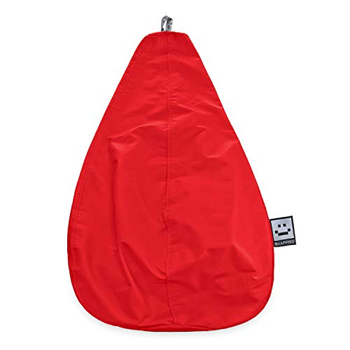 HAPPERS Puff Pera sin Relleno Polipiel Indoor Rojo XL