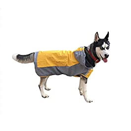 KUANDARMX Double-layer big dog raincoat cold protection outdoor dog jacket cloak-style pet supplies the best gift for small and medium-sized puppies