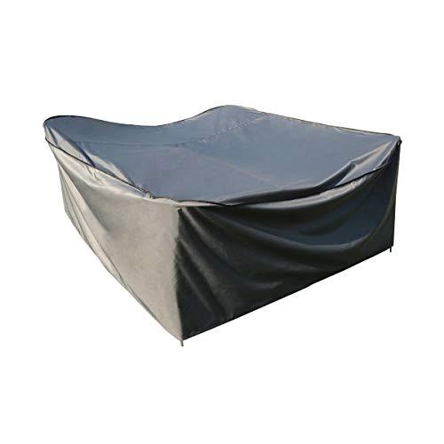 KaufPirat Premium Abdeckplane Rund /Ø 120x90 cm Anthrazit Gartenm/öbel Gartentisch Abdeckung Schutzh/ülle Abdeckhaube Outdoor Round Patio Table Cover