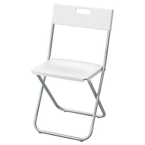 New Gunde Klappstuhl, verzinkter Stahl, Polypropylen-Kunststoff, Sitz *Marke IKEA* (Farbe: Weiß)