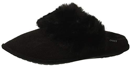 Crocs Classic Lxe Slipper, Pantofole Unisex-Adulto, Nero (Black 001), 38/39 EU