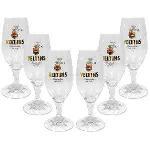Veltins Glas Bierglas Tulpen Gläser-Set - 6x Biergläser 0,3l geeicht