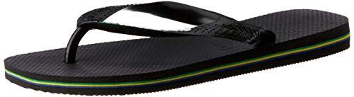 Havaianas Brasil Logo, Unisex-Erwachsene Zehentrenner, Schwarz (Black/Black), 43/44 EU (43/44 UK)