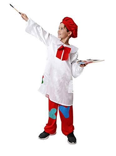 Costumizate! Disfraz de Pintor Talla 7-9 Especial para niños Fiestas de Disfraces o Carnaval
