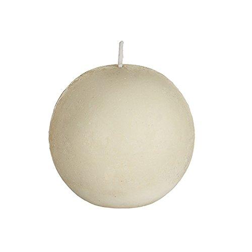 SIA Home Fashion - Candela sferica Non-profumata in Cera di SOYA, 9 cm Avorio
