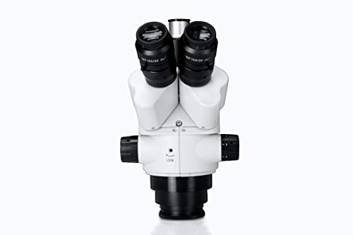 Parco Scientific PZFL Lockable Zoom Stereo 0.7-4.5X Simul-Focal Trinocular Microscope Head   10x WF Eyepiece, 7X-45X Magnification