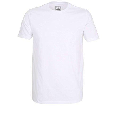 Homeboy Herren T-Shirt, Kurzarm, Baumwolle, Single Jersey, weiß Uni, 2er Pack 4