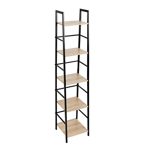 Hodedah Import 3 Shelf Bookcase, Black