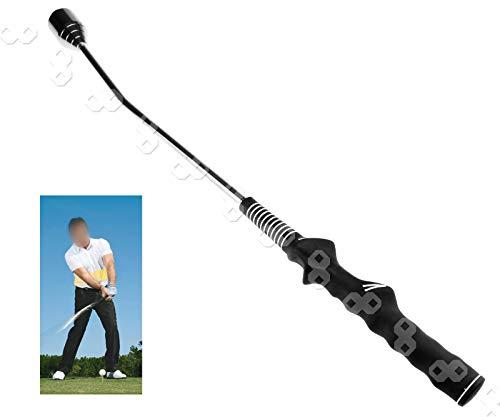 YINETTECH Golfschläger Golf Trainingshilfe für Aufwärmen/Training Golftrainer Trainer schwarz