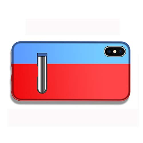 ZHANGHUI Funda Protectora Bicolor de Derecha e Izquierda Caja Protectora magnética de Empalme for el iPhone XS MAX, con el Titular (Color : Color14)