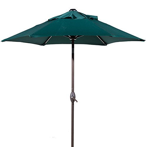 Abba Patio 7.5ft Patio Umbrella Outdoor Umbrella Patio Market Table Umbrella with Push Button Tilt...
