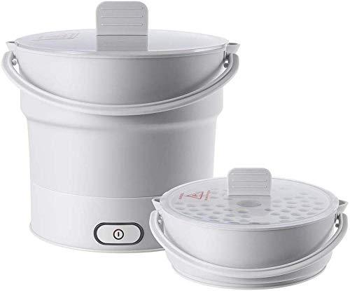Elektro-faltbarer Kessel bewegliche faltbare Elektro-Steaming Dünsten Hot Pot Cooker Muti-Functional Silikagel-Sauce Topf Wasserkocher Dampfer-Reise- 1yess