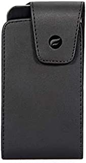 Premium Black Vertical Leather Case Pouch Cover Holster with Swivel Belt Clip for Verizon Blackberry Z30