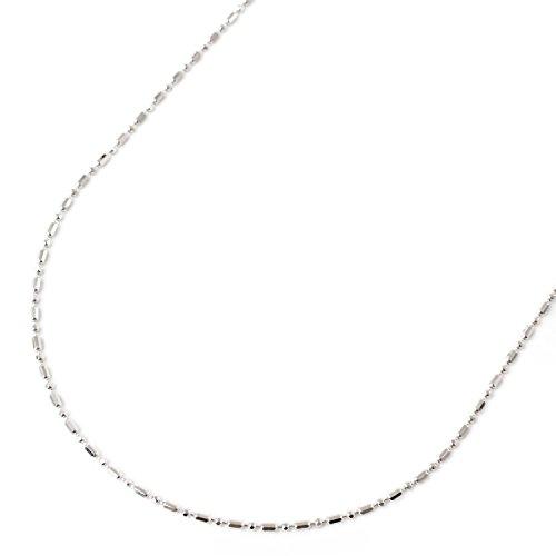 18金 ホワイトゴールド ネックレス フリーサイズ チェーン 50cm 2.2g K18 スライド