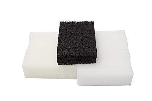 LTWHOME Compatible Mousse Carbone Polyester Tampons Filtrants Ensemble Convient pour Le Fluval 3 Plus + Filtre (Paquet DE 36)