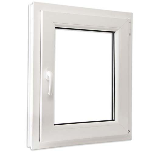 SCHÜCO - Ventanas de PVC Oscilo-batientes Vidrio Climalit - Color Blancas e Imitación Madera - Varias medidas. (Ancho 80cm x Alto 80cm, Blanco)