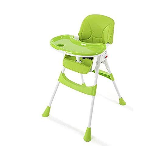 MYRCLMY Baby Esszimmerstuhl Multifunktionale Faltbare Multifunktions bewegliche Kind-Babystuhl Kind Essen Tischsitz Baby Schaukelstuhl,Grün