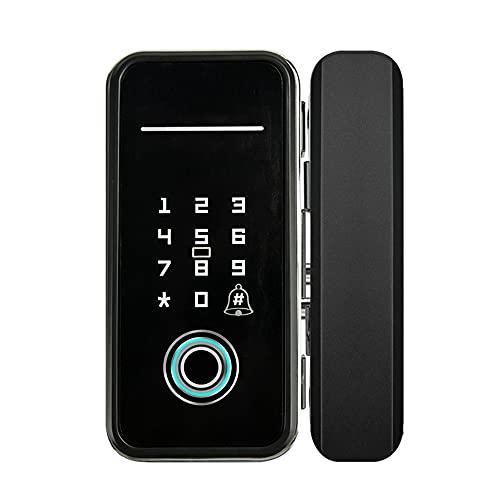 Xinhen Security Smart Lock Touch Fingerprint Scanner, Keyless Entry Door Lock, Electronic Deadbolt, Touchscreen Keypad, Suitable for office Convenience store Glass door