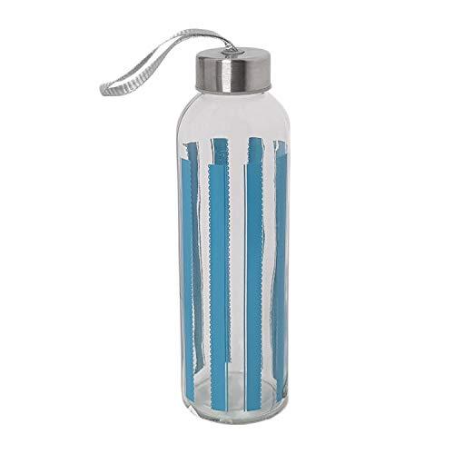 BOLTZE GRUPPE GmbH Trinkflasche Glas 500ml, Trinkflasche Sport, Trinkflasche to go, Glas Wasserflasche, Fahrradflasche