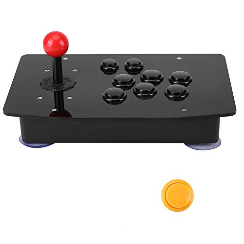 Arcade Fight Stick, USB2.0 Arcade Game Fighting Joystick Controller, Zero Delay Classical Game Controller Joystick Handle Buttons for Arcade PC WIN7/8/10