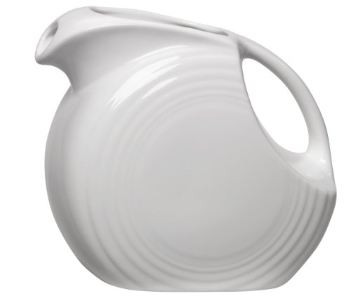 Fiesta 67-1/4-Ounce Large Disk Pitcher, covid 19 (Ring White Pitcher coronavirus)