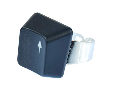 Miniblings Tastaturring PC Zeichen Pfeil nach Oben Taste Ring Computer Tastatur - Handmade Modeschmuck I Fingerring mit Motiv I verstellbar one Size