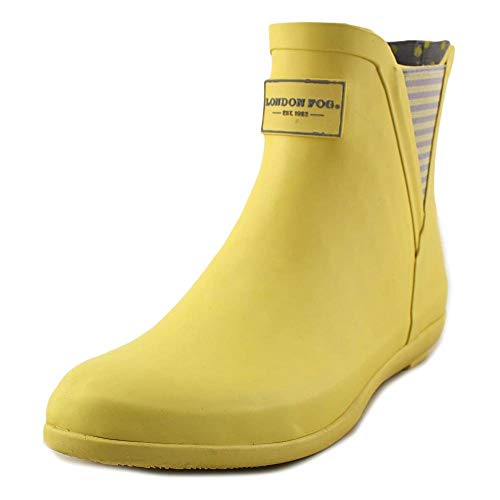 LONDON FOG Womens Piccadilly Rain Boot Yellow 9 M US