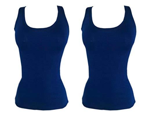 Kit 2 Regata Mullet Plus Size Lisa Feminina Moda AZUL-AZUL G3