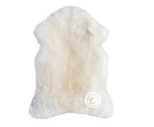 Sunshine Cowhides Peau de Mouton - Taille 90 x 70 cm - Qualité Premium de PIELES Del Sol (Blanc)