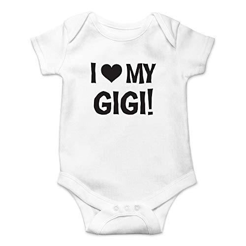 Qian Mu888 I Love My Gigi – My Grandma is The Best Grandmother Ever – Bonito body de una pieza para bebé