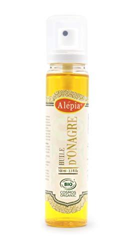 Alepia: Huile d'Onagre Bio 100ml, 100% Pure et Naturel, Cosmos Bio certifié; anti-rides, Apaise, adoucit, assouplit & revitalise