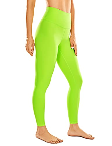 CRZ YOGA Women's Naked Feeling Yoga Pants - 25 Inches Neon Colors Leggings High Waisted Workout Tights Stretchy Fluorescent (Neon) Electronic Fluorescent Small