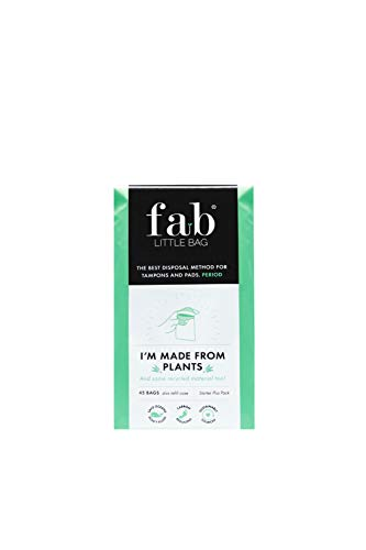 Fab Little Bag Sanitary Disposal Bags - Prevents Odours, No Mess, Eco-Friendly, Sealable, Travel-Friendly - Pack of 45 Bags, Starter Plus Pack