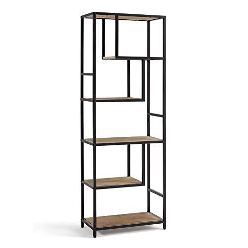 Anfan 3-Tiers Industrial Pipe Wall Mounted Ledge Shelf, Rustic Storage Shelving Bookshelf (White)