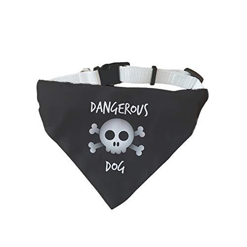 Supermolon hondenhalsband voor kleine honden Dangerous Dog